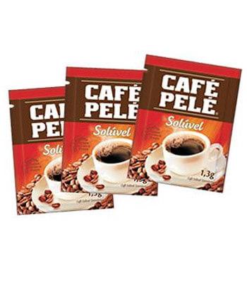 Sachês de Café Pelé Solúvel Granulado 1,3g