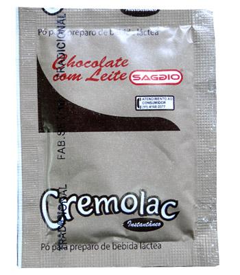 Sachês de Chocolate com Leite CREMOLAC 10G